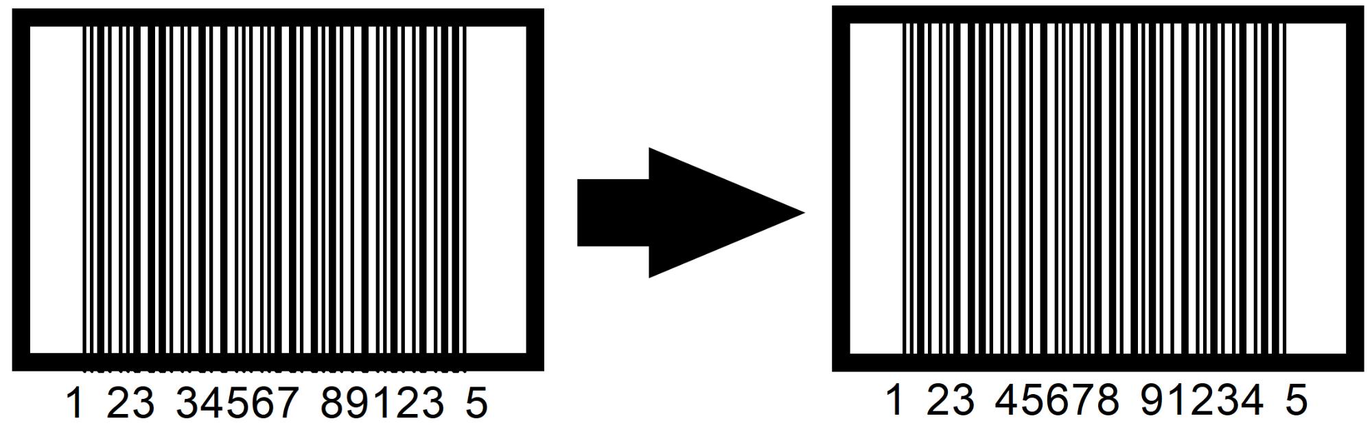Código de barras corregido