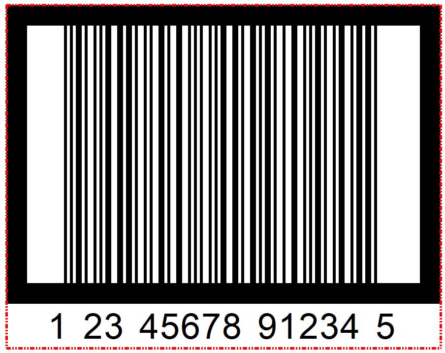 Ejemplo de dos Marcos en un código de barras