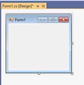 Пустая форма приложения в Visual Studio