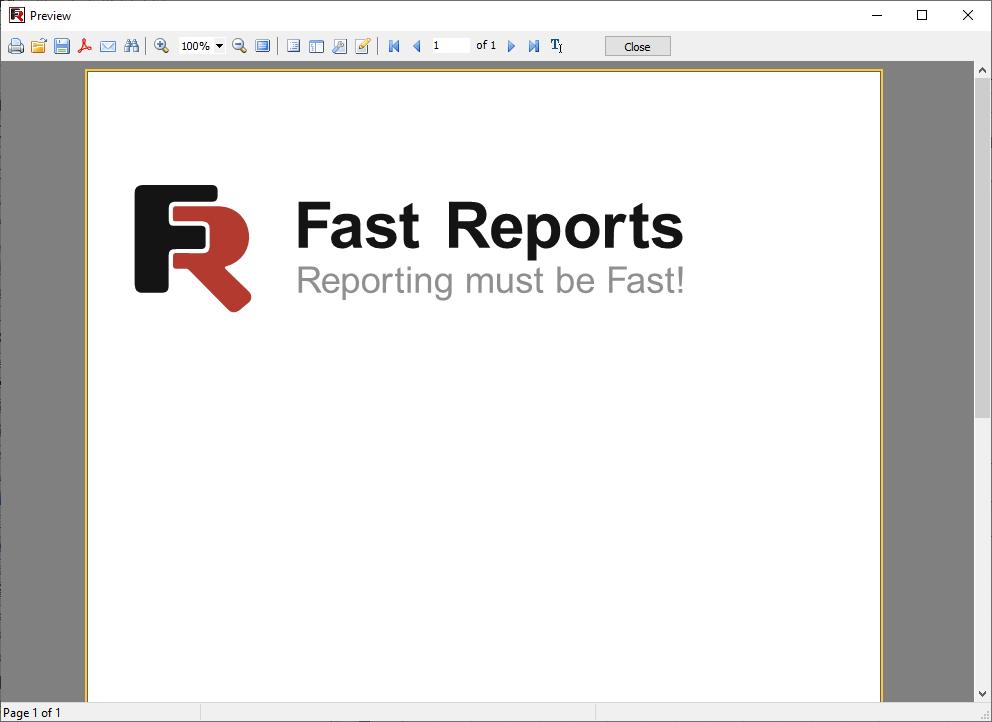 Beispiel für einen erstellten Bericht