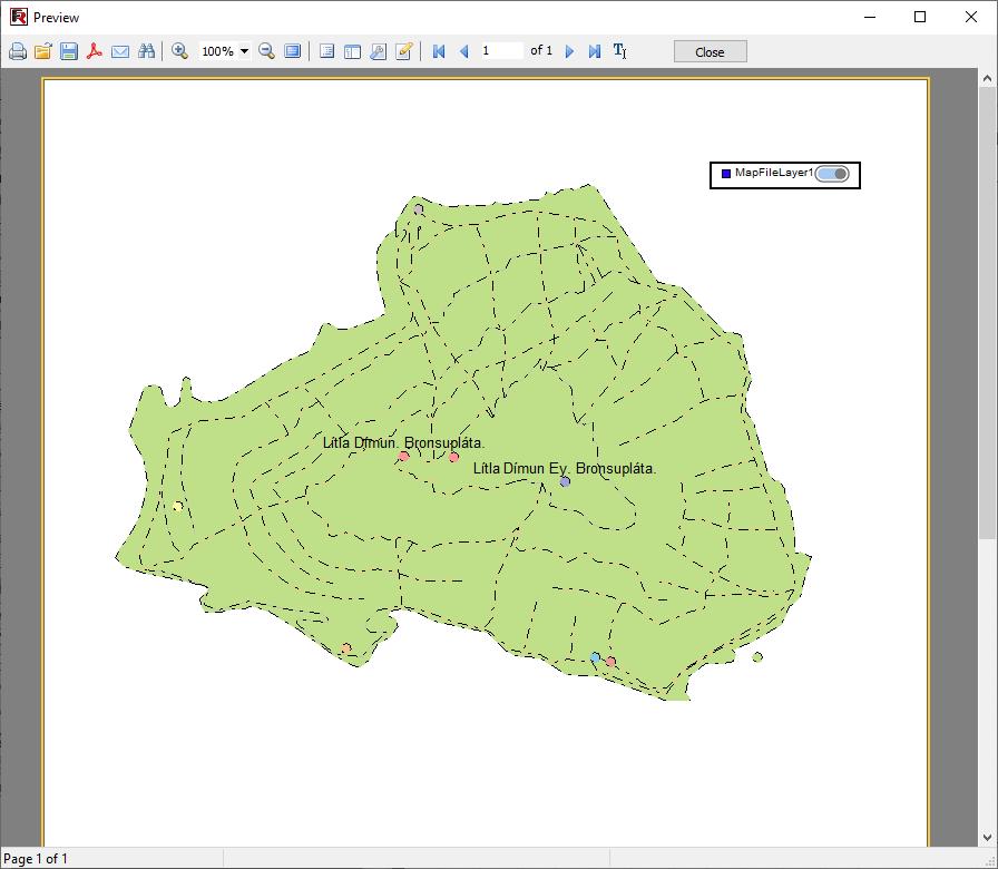 Bericht mit OpenStreetMap API in der Vorschau