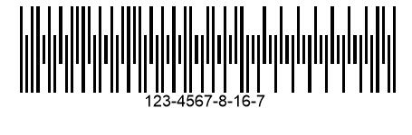 Пример Japanese Post 4-State Code