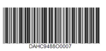 Пример штрих-кода Code39