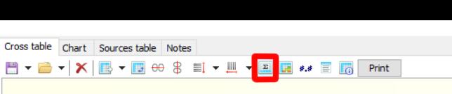 Кнопка редактирования значений